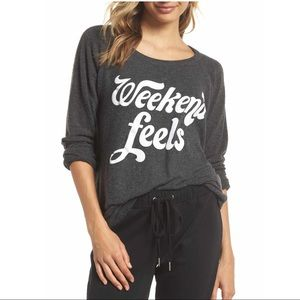 Chaser Weekend Feels Sweater Top here Sweatshirt M